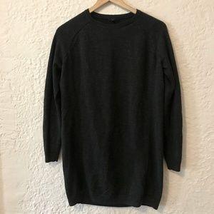 COS Wool Knit High Neck Dress Dark Gray XS